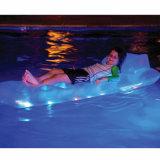 Matras van de LEIDENE Lucht van pvc de Opblaasbare met Licht voor het Zwemmen van de Pool