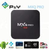 Del fornitore del Android su ordinazione 5.1 di marchio PRO S905 Kodi 4k Amlogic casella di memoria TV del quadrato di Mxq