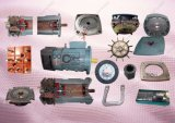 Lavoro del motore della gru del motore dell'elevatore della costruzione con l'accoppiamento della scatola ingranaggi