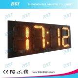 Outdoor Jumbo haute luminosité LED étanche temps signe avec l'affichage de température de 88 : 88