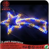 Decorazione blu di natale dell'indicatore luminoso di motivo della corda di Twinking della stella del LED sette per illuminazione esterna