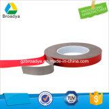 solvente de acrílico de la película de 0.8m m Vhb de la cinta de acrílico roja de la espuma (BY3080C)
