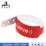 Подгонянный Wristband шелковой ширмы бумаги с покрытием RFID для стационара