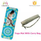 Fabricante de goma profesional de la estera de la yoga de Microfiber con precio competitivo