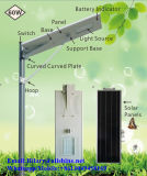 60W 태양 전지판을%s 가진 옥외 LED 통합 태양 가로등