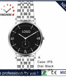 ステンレス鋼の腕時計の革腕時計の水晶メンズウォッチ(DC-8941)