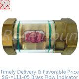 液体のための透過ガラスシリンダー銅の流れの表示器