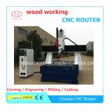 Máquina de grabado de madera del CNC del eje del descuento Jcw1325hl 4 para el molde