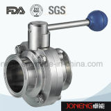 Нержавеющая сталь Ручка зажимная пищевой промышленности клапан-бабочка (JN-BV2001)