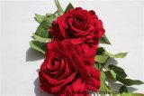 결혼식 장식을%s 가짜 Rosa가 실제적인 접촉에 의하여 인공적인 로즈 꽃이 핀다