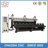máquina do router do CNC do torno 5axis para a produção do volume da mobília