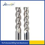Moinho de extremidade contínuo do carboneto de 3 flautas para o alumínio