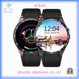 Reloj elegante de Andriod de la manera Kw88 con el reloj de alarma de múltiples funciones de Bluetooth