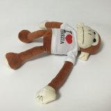 Luxuoso enchido macio bonito Keychain do algodão dos PP do brinquedo animal do macaco