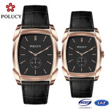 Waterproof 5ATM Couple Watch with Genuine Leather