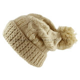 Hot Selling Fashion Ladies Winter Bonnet Bonnet Pompom