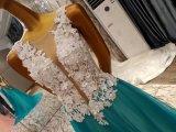 Новые прибытия замужества 3D цветка платья 2017 вечера