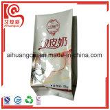 Bolso plástico lateral del acondicionamiento de los alimentos del papel de aluminio del escudete