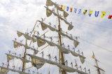 Bandierina nazionale della stringa del tessuto di colore completo della bandierina della barca (SS-FF-37)