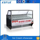 Congelador do indicador do gelado do Showcase do gelado