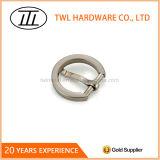 Nickelage de perle de courroie à moitié autour de boucle de barre en métal de sac