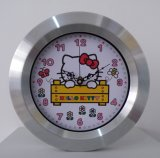 Reloj de pared del metal del regalo de Hellokitty para la decoración casera