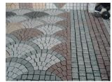 Pietra per lastricati ingranata naturale di figura del ventilatore del granito/basalto/ardesia/Bluestone per il giardino/strada privata