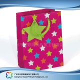 Sac de transporteur de empaquetage estampé de papier pour les vêtements de cadeau d'achats (XC-bgg-044)