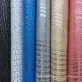 ハンドバッグのための熱い販売PVCワニののどの革