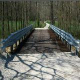 Стальная решетка использующ для моста пейзажа