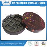 Chocolate de regalo papel decorativo de embalaje de alimentos de la flor de contenedores Caja con lámina de oro al por mayor