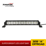 14 '' 36W Slim et Light Singe LED Light Bar