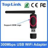 Kaart van het Netwerk USB van de Band 2.4G/5g de Dubbele 300Mbps van Ralink Rt5572 Draadloze met 2dBi Externe Antenne