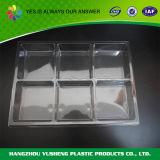 Transparentes Plastikfach-Tellersegment