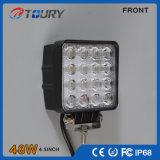 luz de trabalho da lâmpada do diodo emissor de luz do automóvel 48W Offroad quadrado