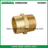 クロム染料で染められたまっすぐな管のカップリング(AV-BF-8002)を磨く黄銅