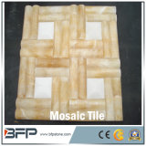 Belle mattonelle di mosaico bianche di pavimentazione di pietra naturali del travertino per le mattonelle della parete/rivestimento della parete