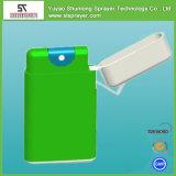 Pulverizador plástico do bolso de cartão do crédito do perfume do verde 10ml dos PP