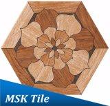 Bois-Regarder la tuile rustique Kl-10-H2 d'hexagone de porcelaine