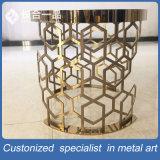 신식 스테인리스 미러 티타늄 황금 둥근 탁자