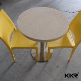 ホテルの家具の正方形の白い固体表面のダイニングテーブル(T170926)