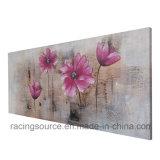 Impression fabriquée à la main de fleur d'art de mur de peinture à l'huile de décor à la maison sur la toile