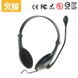 L'écouteur stéréo d'ordinateur portatif le meilleur marché de la première vente Hz-404 avec le microphone