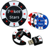 Black Poker Star 2.0 USB Flash Memory Stick Pen/polegar /Pendrive Criativo
