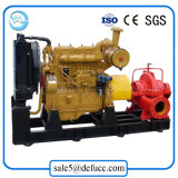 Pompe à eau centrifuge portative de moteur diesel de double aspiration