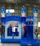 Castello rimbalzante della trasparenza gonfiabile gonfiabile del ponticello del Rainbow