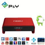 Casella astuta PRO contenitore installato Kodi di Android TV di 2.4G WiFi della TV + di 5g WiFi S912 Pendoo T95u