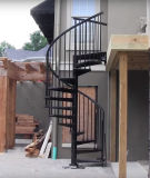 La seguridad exterior Escalera de acero galvanizado