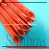 Fibra de vidro tecida coberta silicone que Sleeving 25.0mm
