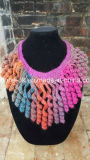 Accessori su ordinazione dell'indumento del collare del merletto della busbana francese della collana del Crochet della mano dell'OEM